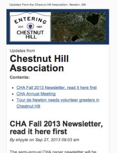 CHA monthly updates