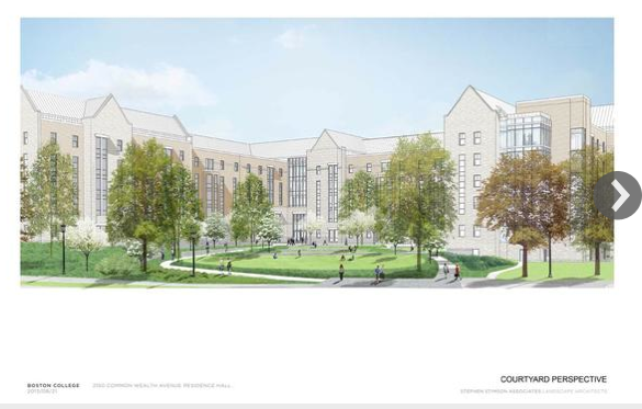 Boston College proposed dorm