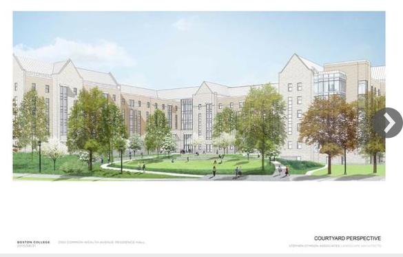 Boston College proposed dorm