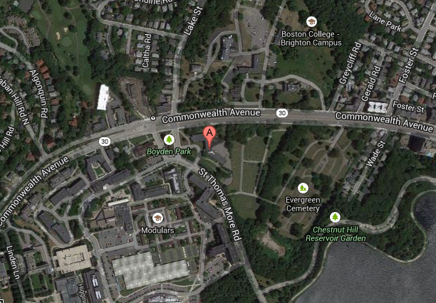Location of proposed construction of new dorm