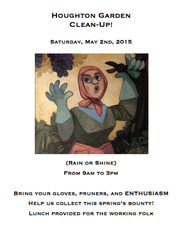 houghton garden clean up April 2015
