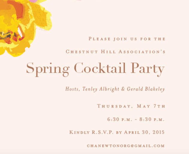 cocktail party - save the date
